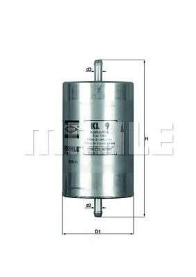 KNECHT KL 9 Топливный фильтр