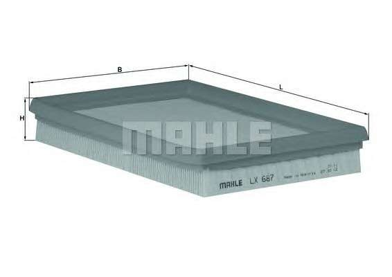 KNECHT LX 687 Воздушный фильтр