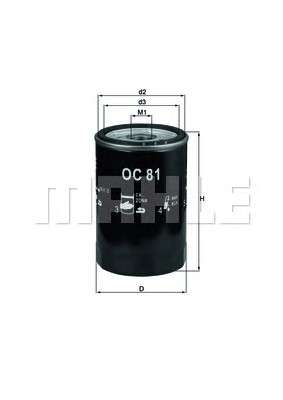 KNECHT OC 81 Масляный фильтр