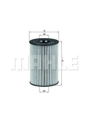KNECHT OX 353/7D Масляный фильтр