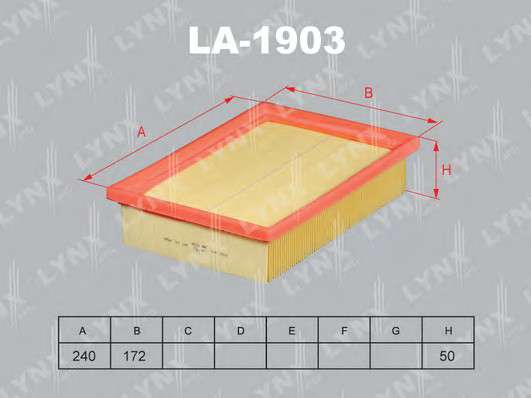 LYNXauto LA-1903 Воздушный фильтр