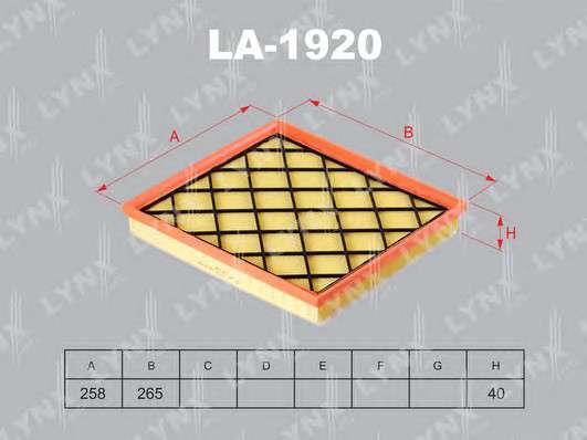 LYNXauto LA-1920 Воздушный фильтр