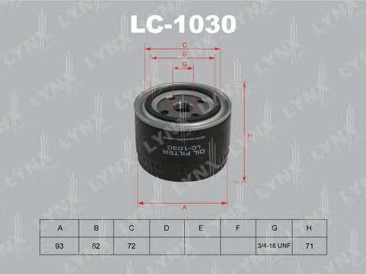 LYNXauto LC-1030 Масляный фильтр