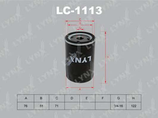 LYNXauto LC-1113 Масляный фильтр