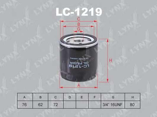 Запчасть lc1219 lynxauto Масляный фильтр