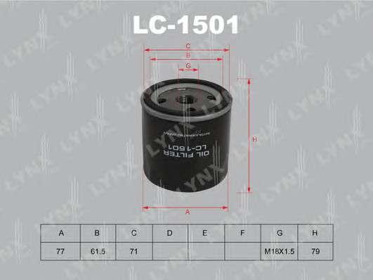 LYNXauto LC-1501 Масляный фильтр