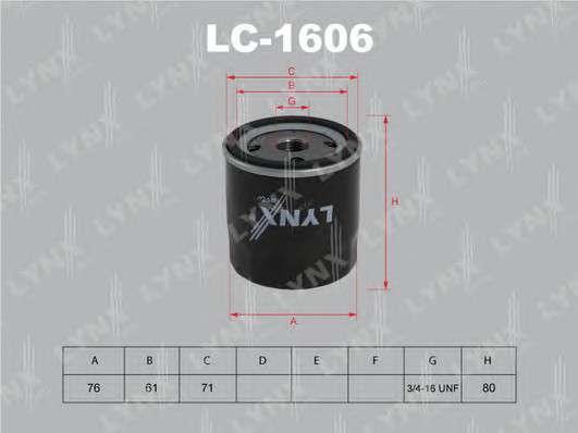 LYNXauto LC-1606 Масляный фильтр