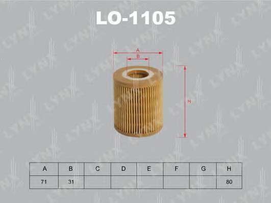 LYNXauto LO-1105 Масляный фильтр
