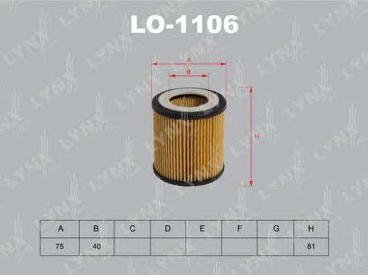 LYNXauto LO-1106 Масляный фильтр