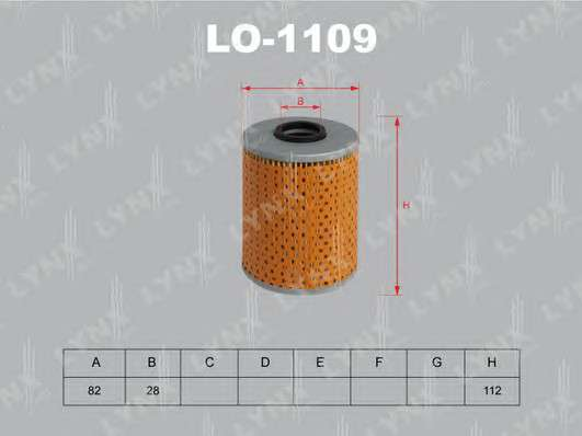 LYNXauto LO-1109 Масляный фильтр