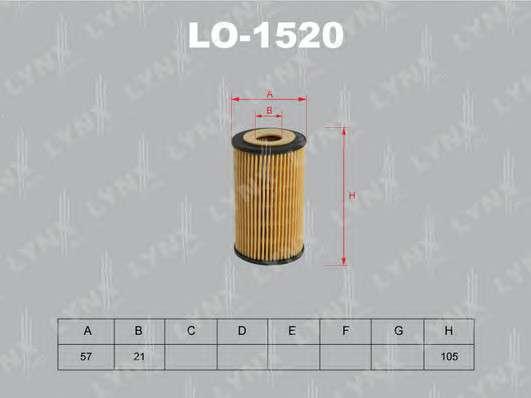 LYNXauto LO-1520 Масляный фильтр