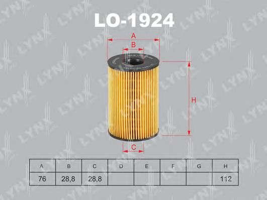 LYNXauto LO-1924 Масляный фильтр