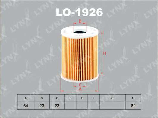 LYNXauto LO-1926 Масляный фильтр