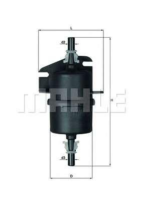 MAHLE ORIGINAL KL 238 Топливный фильтр