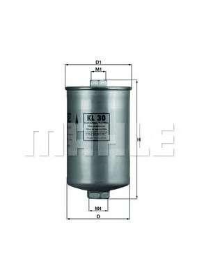 MAHLE ORIGINAL KL 30 Топливный фильтр