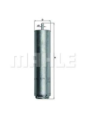 MAHLE ORIGINAL KL 579D Топливный фильтр