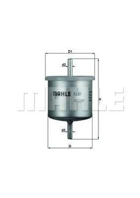 MAHLE ORIGINAL KL 61 Топливный фильтр