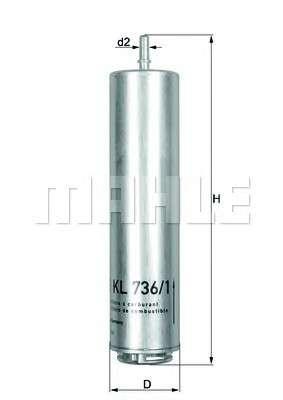 MAHLE ORIGINAL KL 736/1D Топливный фильтр