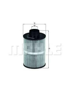MAHLE ORIGINAL KX 208D Топливный фильтр