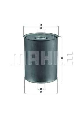 MAHLE ORIGINAL KX 24D Топливный фильтр