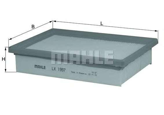 MAHLE ORIGINAL LX 1997 Воздушный фильтр
