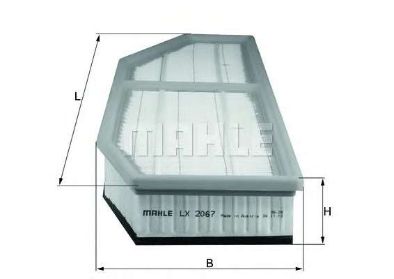MAHLE ORIGINAL LX 2067 Воздушный фильтр