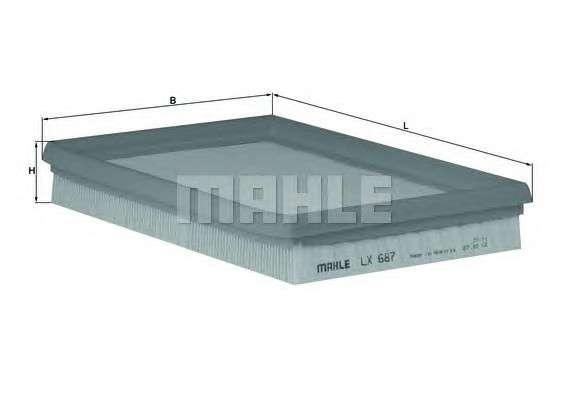 MAHLE ORIGINAL LX 687 Воздушный фильтр