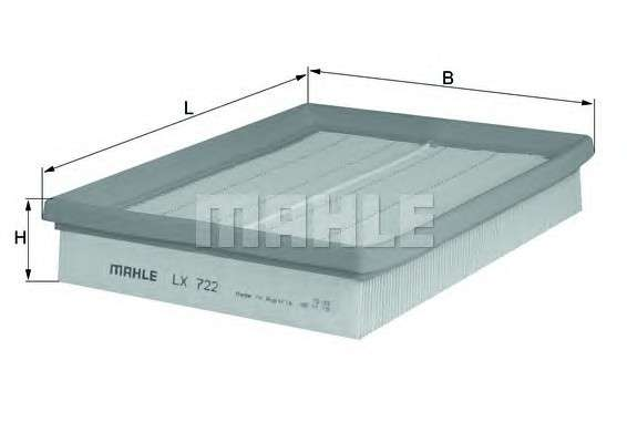 MAHLE ORIGINAL LX 722 Воздушный фильтр