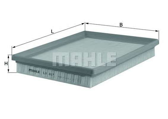 MAHLE ORIGINAL LX 887 Воздушный фильтр