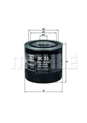 MAHLE ORIGINAL OC 23 Масляный фильтр