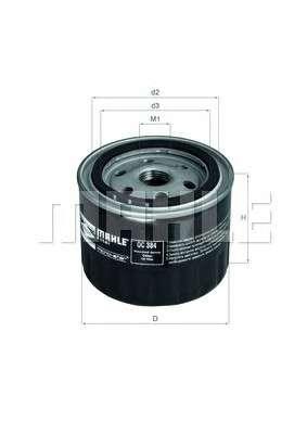 MAHLE ORIGINAL OC 384 Масляный фильтр