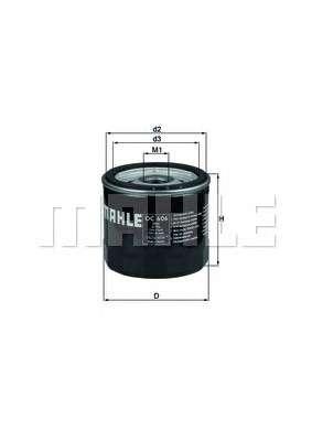 MAHLE ORIGINAL OC 606 Масляный фильтр