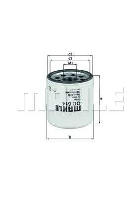 MAHLE ORIGINAL OC 614 Масляный фильтр