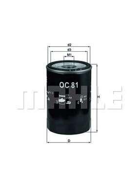 MAHLE ORIGINAL OC 81 Масляный фильтр