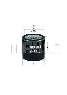MAHLE ORIGINAL OC 90 OF Масляный фильтр