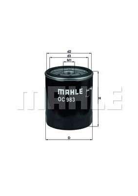 MAHLE ORIGINAL OC 983 Масляный фильтр