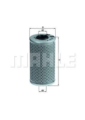 MAHLE ORIGINAL OX 103D Масляный фильтр