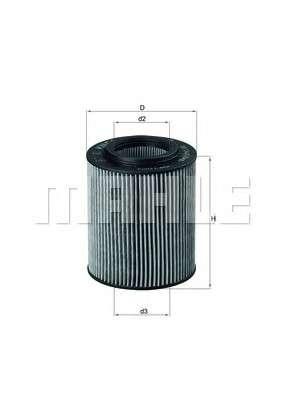 MAHLE ORIGINAL OX 154/1D Масляный фильтр