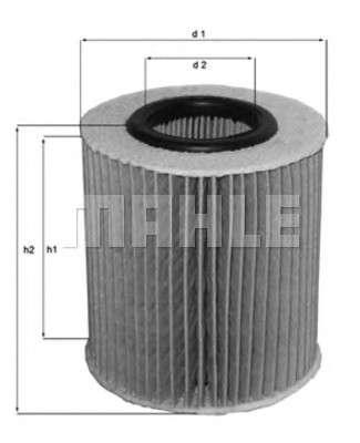 MAHLE ORIGINAL OX 166/1D Масляный фильтр