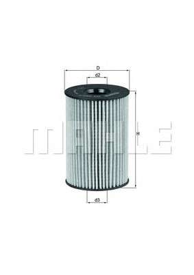 MAHLE ORIGINAL OX 353/7D Масляный фильтр
