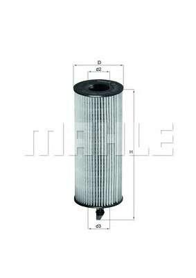 MAHLE ORIGINAL OX 361/4D Масляный фильтр