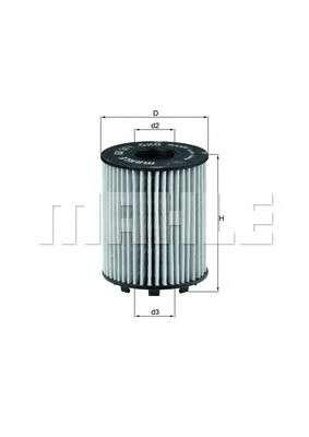 MAHLE ORIGINAL OX 371D Масляный фильтр