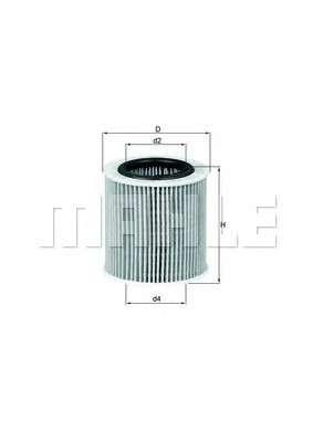 MAHLE ORIGINAL OX 387D Масляный фильтр