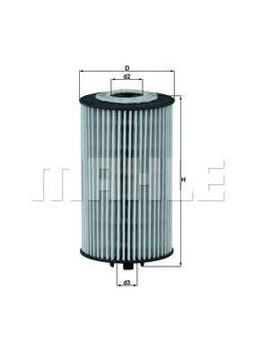 MAHLE ORIGINAL OX 401D Масляный фильтр