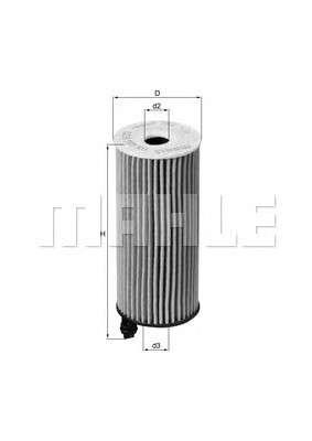 MAHLE ORIGINAL OX 404D Масляный фильтр