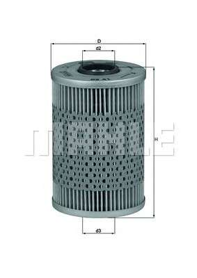 MAHLE ORIGINAL OX 41D Масляный фильтр