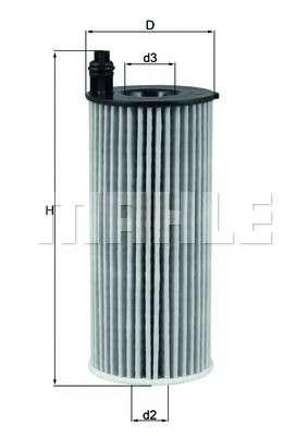 MAHLE ORIGINAL OX 813/1D Масляный фильтр