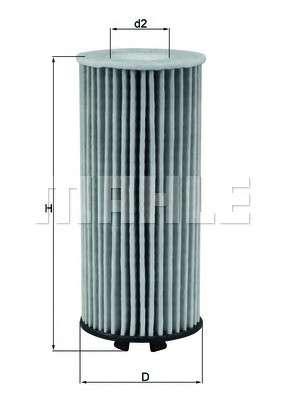 MAHLE ORIGINAL OX 815D Масляный фильтр
