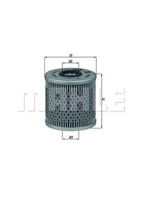 MAHLE ORIGINAL OX 91D Масляный фильтр