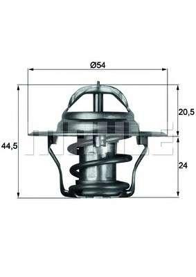 MAHLE ORIGINAL TX 4 92D Термостат, охлаждающая жидкость